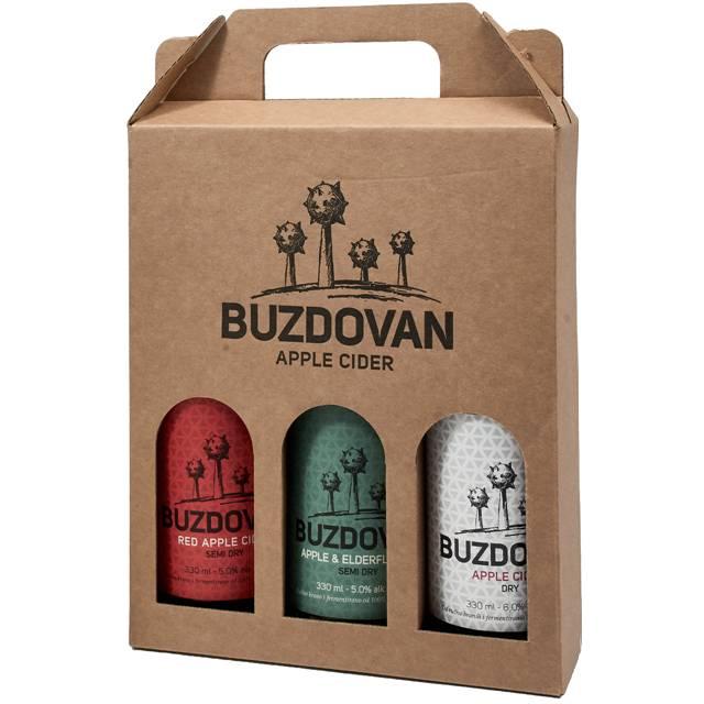 2019 Buzdovan degustacijski cider paket 3 butelje 0,33L (Apple, Red Apple & Elderflower cider) - kupi online